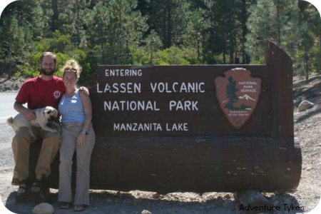 Lassen Volcanic National Park Sign
