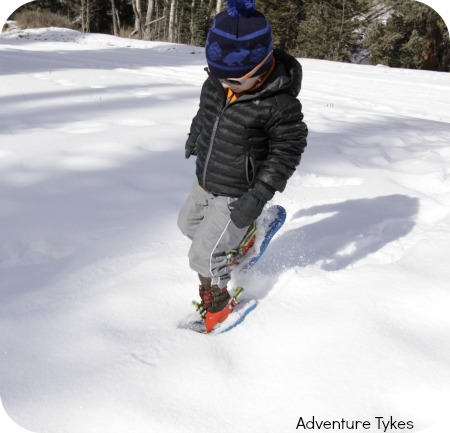Snowshoeing in KEENs Basin WP boots