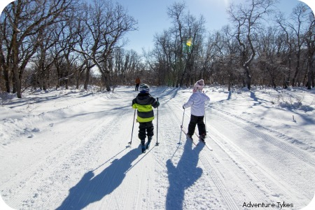 Adventure Tykes cross country skiing