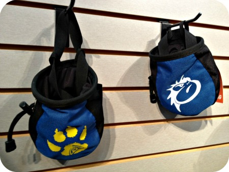 Mad Rock chalk bags for kids.
