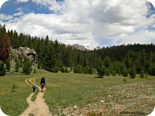 Hiking in the Wind River Range of Wyoming