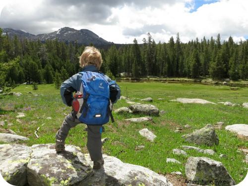 Toddler backpacking