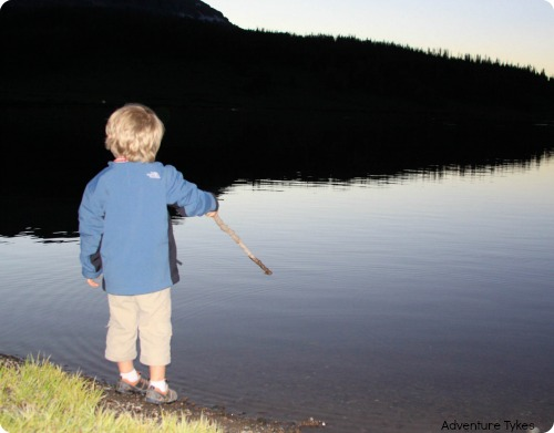Toddler fishing