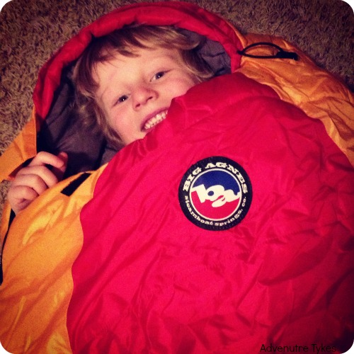 Toddler in sleeping bag