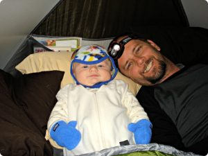infant camping