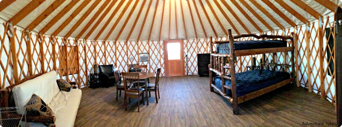 Dead horse point yurts are nicely furnished