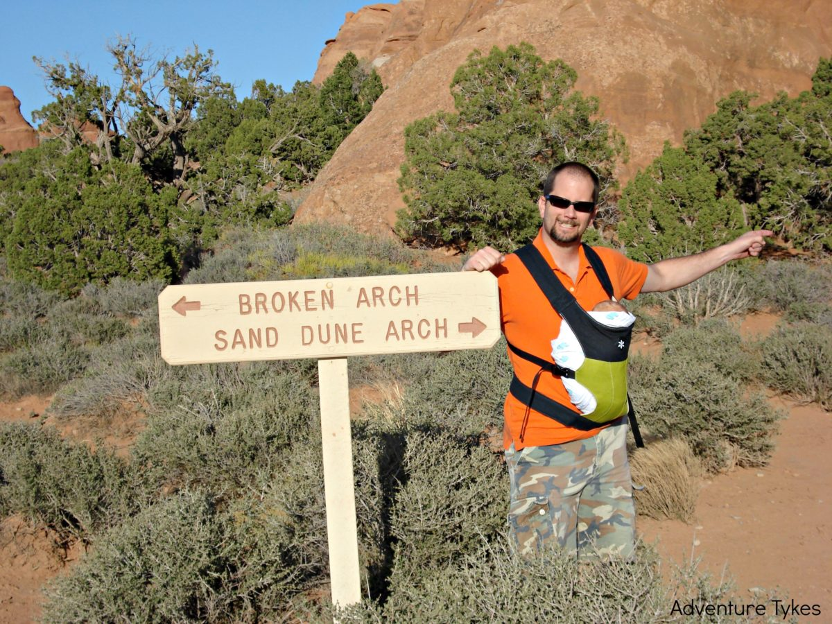 Sand Dune Arch sign - Arches National Park