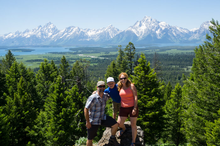 Grand View Point in Grand Teton National Park