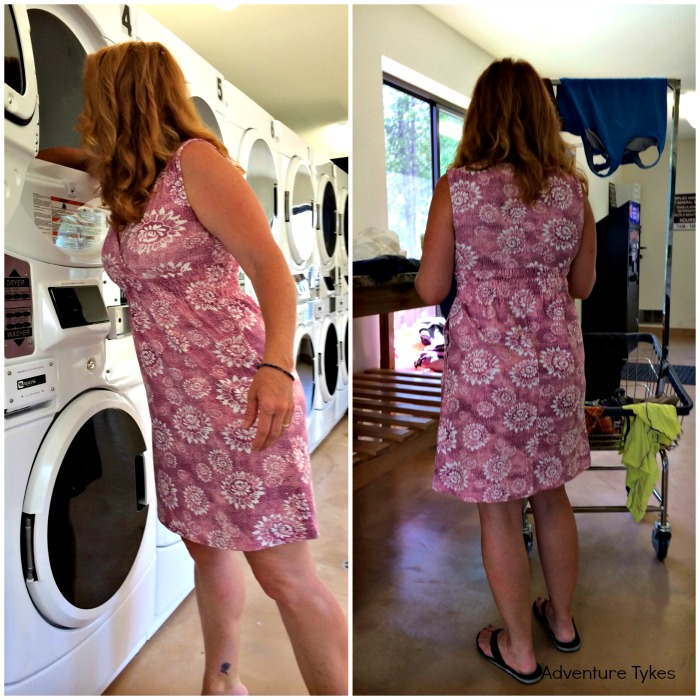 aventura dress at laundry mat