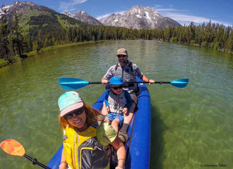 Kayaking String Lake
