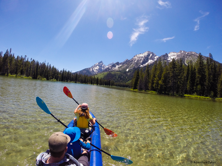 Kayaking on String Lake